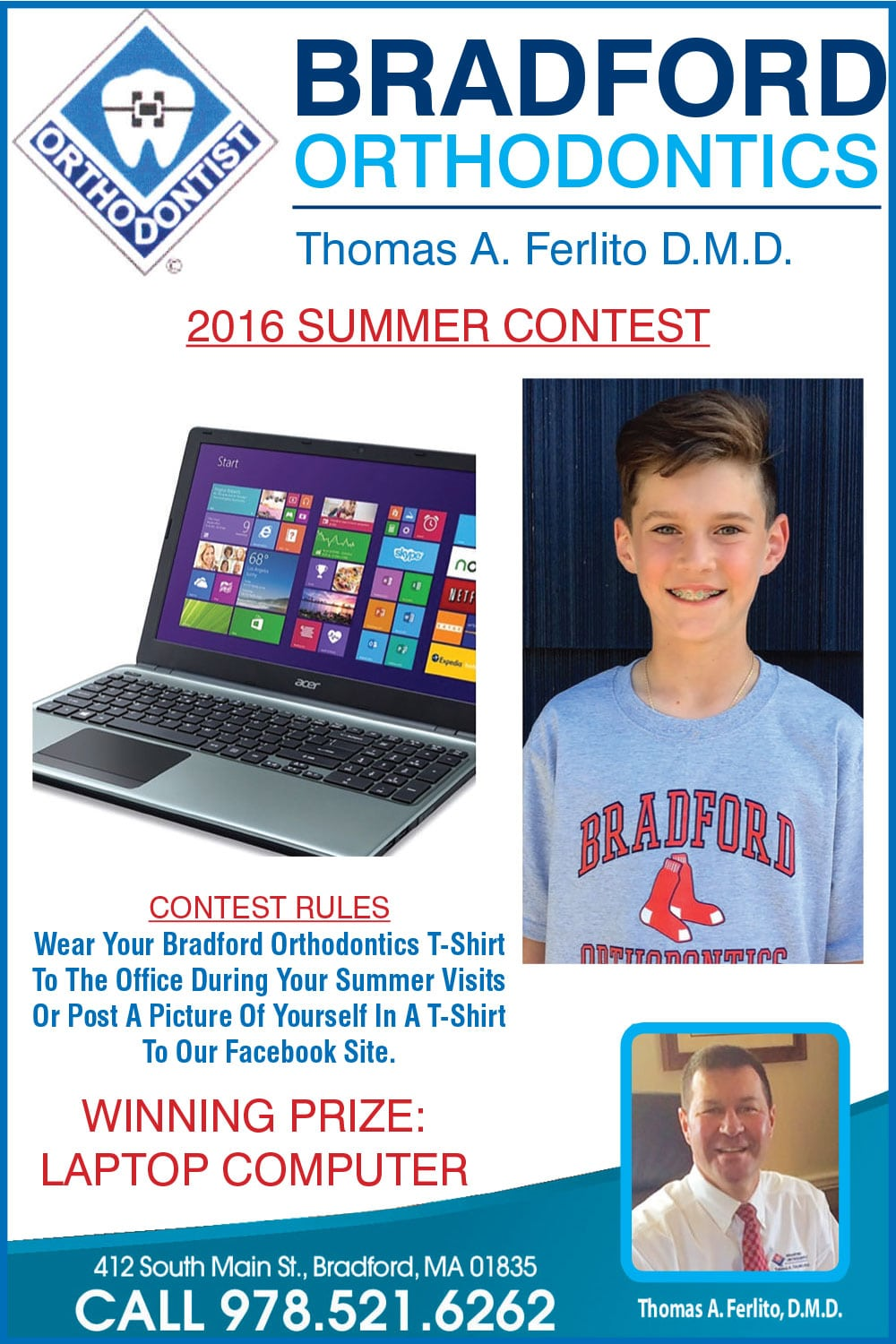 dr-tom-ferlito-bradord-orthodontics-braford-ma-summer-contest