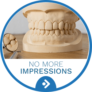No More Impressions Button at Bradford Orthodontics in Bradford MA